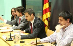 Anna Cantudo, Xavi Paz, Joan Ramon Casals i Miguel Zaragoza en el ple en el que es va passar l'alcaldia del PSC a CiU // Jordi Julià