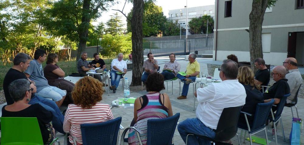 Els militants d'Iniciativa per Molins de Rei van encarar els reptes de futur en una trobada a Hostalets de Pierola // IxMdR