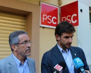 Xavi Paz acompanyat del president del PSC Molins, Joan Barrios // Jose Polo