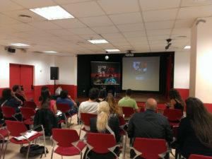 La roda de premsa va aplegar a més mitjans especialitzats que mitjans locals // Jordi Julià