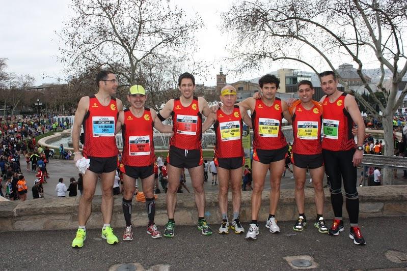 L'equip de ComeKm que va participar a la Marató de BCN // ComeKM