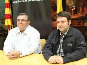 Lluís Carrasco i Sergi Conde a la sala de plens de l'Ajuntament el dia que es va produir el relleu al grup municipal // Jose Polo