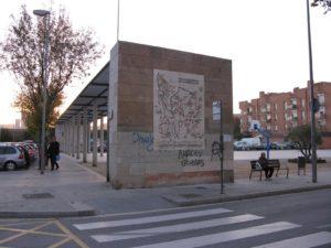 Les pintades embruten la imatge del mural del CEM// Iniciativa per Molins de Rei