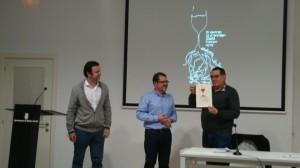 Jesús del Rio va rebre el guardó d'Envinat de l'any 2013 en representació de la DO Montsant // Associació Molinenca de Tast