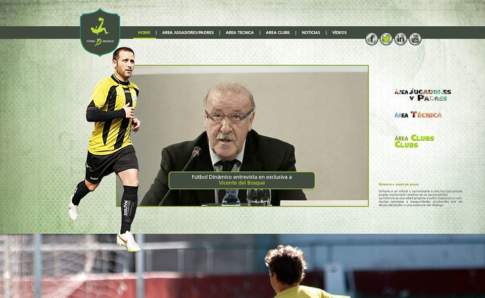 La web Fútbol Dinámico guarda un disseny intuïtiu i atractiu // Fútbol Dinámico