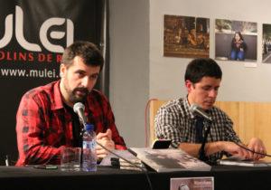 Jordi Borràs - a l'esquerra - acompanyat de Martí Majoral (Alerta Solidària ) // Jose Polo