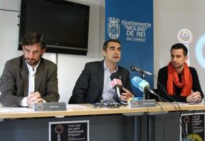 Xavi Paz, Joan Ramon Casals i Oriol Romeu durant la presentació dels Premis // Jose Polo