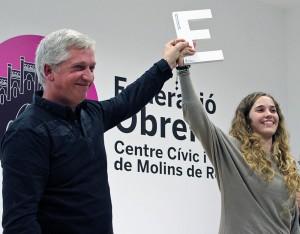 Armentano va recollir el premi amb el seu pare // Marta Pedrola