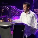 Santi Prat Casas va improvisar en els discursos d'agraïment al rebre el premi Esport // Jordi Julià