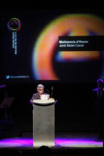 La mare de Jordi Molet va recollir el premi en nom del seu fill, a Alemanya // Jordi Julià