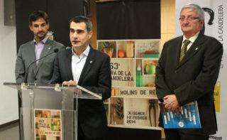 Xavi Paz, Joan Ramon Casals i Joaquim Martí durant la roda de premsa de presentació   // Jose Polo