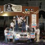 Xavi Foj puja al podi del Dakar 2014