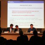 El primer tinent d'alcalde, Xavi Paz (PSC), l'alcalde, Joan Ramon Casals (CiU) i el regidor de Finances, Miguel Zaragoza (PSC), van ser els encarregats de presentar el pressupost // David Guerrero