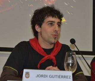 L'actual cap de colla, Jordi Guitiérrez, agraïnt la participació. // Elisenda Colell