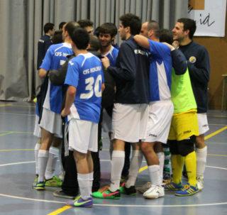 El CFS Molins 99 celebrant el passi després del partit // Jose Polo