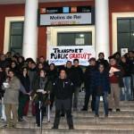 Una seixantena de persones s'organitza per reclamar un preu just del transport públic