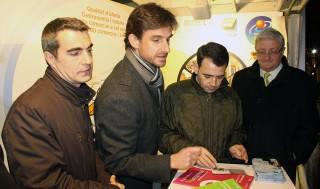 Casals, Paz, Molins i Martí a la fira Industrial // Jose Polo