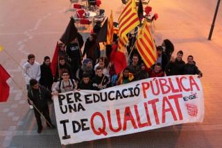 Els estudiants al principi de la manifestació // Jose Polo