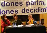 De dreta a esquerra, Susana Martinez, Helena Cardona i Mª Antònia Castellana, el passat divendres al mulei // Elisenda Colell