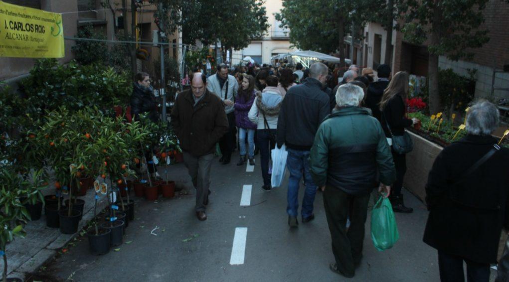 Els carrers de la zona del planter van estar plens de gent durant tot el diumenge // Jose Polo
