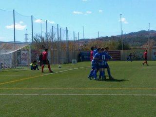 Els jugadors de l'Atlètic Incresa celebrant un dels gols del partit // Laura Fernández