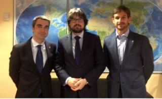 Joan Ramon Casals, Xavi Paz i Secretari d'Infraestructures i Mobilitat, Ricard Font // cedida per l'Ajuntament