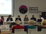 """La Federació Obrera va acollir la presentació """"Per cada mina una flor""""// Laura Herrero"""