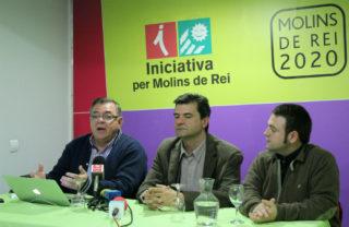 Lluis Carrasco, Rafa Bellido i Sergi Conde durant la roda de premsa // Jose Polo