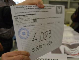 La sol·licitud d'inscripció, va ser desestimada tres dies desprès. // Elisenda Colell