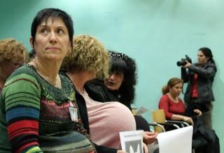 Activistes del Grup de Dones Molins al ple municipal del mes de març // Jose Polo