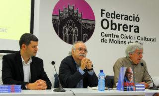 D'esquerra a dreta: Jordi Juàrez, Carod Rovira i Josep Janés // Jose Polo