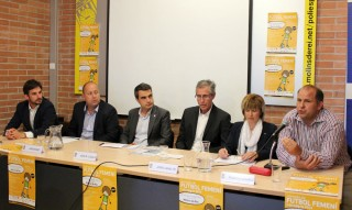 D'esquerra a dreta: Xavi Paz, Jordi Bonet, JR Casals, Jordi Caraltó, Paquita Linares i Salvador Valls // Jose Polo