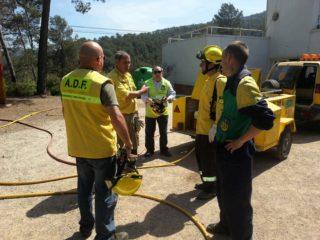 Un grup de voluntaris de l'ADF va participar en el simulacre de confinament de Can Santoi // ADF 249 Puigmadrona-Olorda
