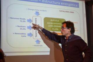 Pep Sales va rehivindicar la necessitat de fer una Catalunya independent del monompoli energètic // Elisenda Colell