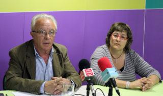Pere García i Mercè Ferrer durant la roda de premsa // Jose Polo