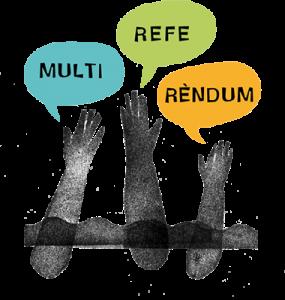 Logotip del Multireferèndum // multireferèndum.cat