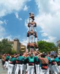 Els Matossers aixecant el 4 de 7 a la plaça de l' Església // Matossers