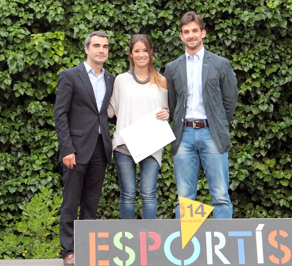 García, gran jugadora, amb les autoritats // Jose Polo