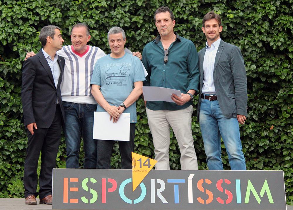 El guanyadors de l'Esportíssim per part del Billar del Foment // Jose Polo