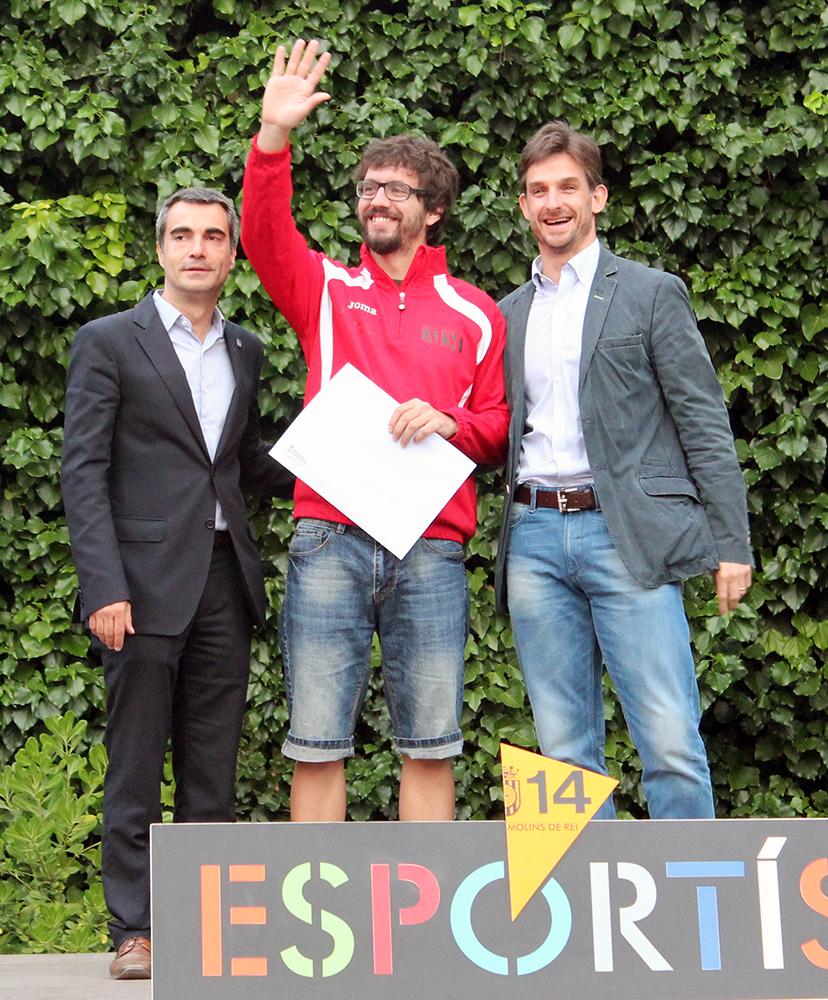 Pérez saluda després de recollir el premi // Jose Polo
