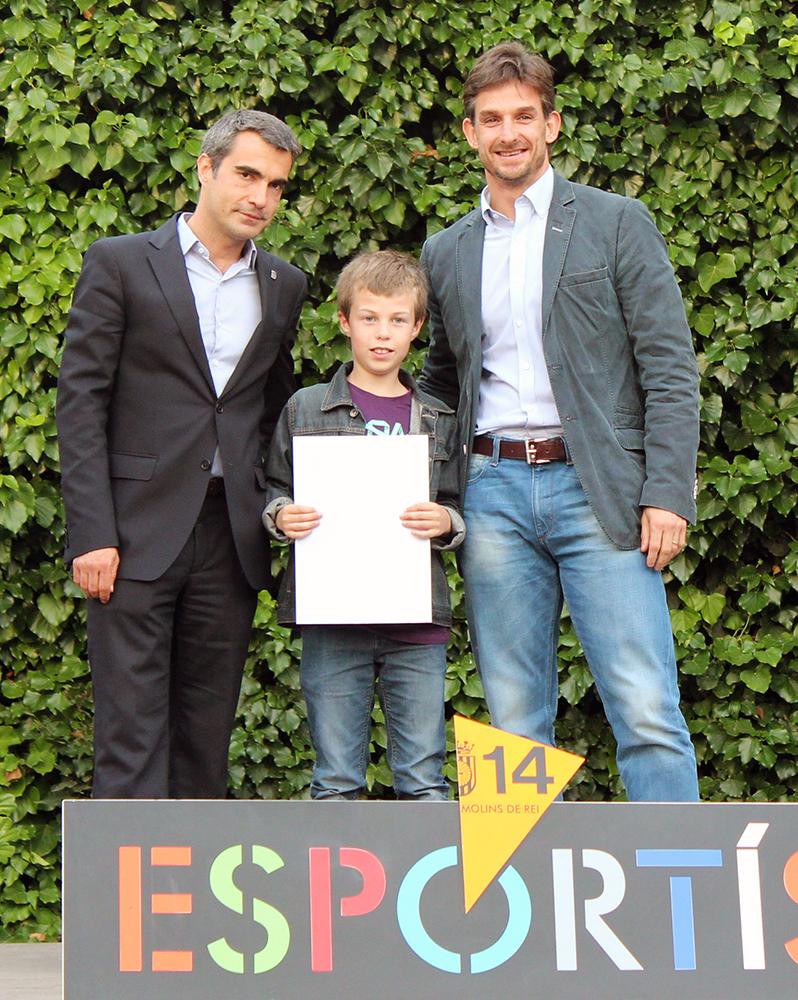 Marc García, la jove promesa dels escacs, amb les autoritats // Jose Polo