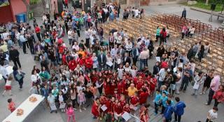 Foto, des de l'aire, dels participants de l'Esportíssim 2014 // Jose Polo