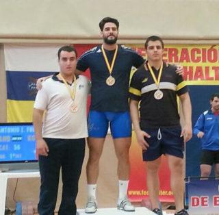 Marcos Ruíz a la segona posició del podi // cedida pel CH Molins de Rei
