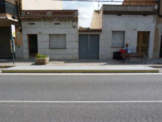 Imatge de la plataforma de la parada de l'avinguda Barcelona // Ajuntament de Molins de Rei