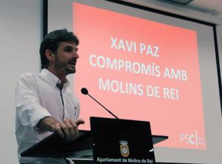 Xavi Paz adreçant-se a la militància després de ser proclamat candidat // Jose Polo