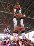 Les colles van aixecar castells simultàniament a la Trobada de Colles del Baix Llobregat // Matossers de Molins de Rei