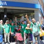 Una nova acció de la PAH força un canvi d'actitud del BBVA en el cas d'Amalia Delgado