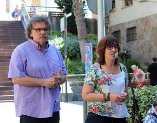 La portaveu Sílvia Guillén presentant Tardà // Jose Polo