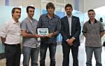 Els emprenedors de Rutes Pirineus acompanyats de les autoritats // Jose Polo