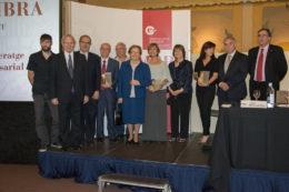 Els representants de les empreses premiades, entre elles Adtel, al Dia de la Cambra al Baix Llobregat // Cambra de Comerç de Barcelona